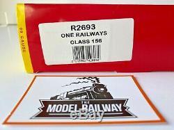 Hornby 00 Gauge R2693 Classe 156 2 Voitures Dmu Un Des Chemins De Fer Livery Boxed