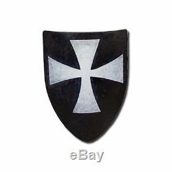 Hospitaller Medieval Shield, 16 Mm, Acier, Prêt Au Combat, Blanc, Taille Unique