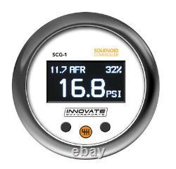 Innover Scg-1 Solenoid Boost Controller & Wideband O² Gauge Kit, Tout-en-un