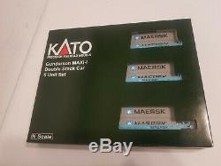 Kato 106-6158 N Gauerson Maxi I Double Pile 5 Voiture. Maersk. Le Dernier