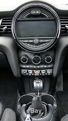 Kit Anneaux Intérieurs Mini Cooper / S / One F55 F56 F57 Noir Pour Modèle Avec Navigation XL