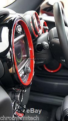 Kit Anneaux Intérieurs Mini Cooper / S / One F55 F56 F57 Red Pour Modèles Avec Navigation XL
