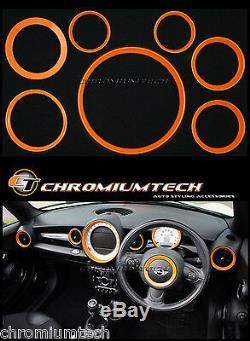 Kit D'anneau Intérieur De Tableau De Bord Mk2 Mini Cooper / S / One R55 R56 R57 R58 R59 Orange