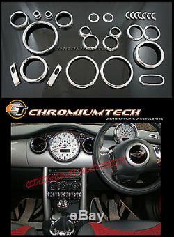 Kit De Tableau De Bord Pour Cadran Intérieur Chromé Mk1 Bmw Mini Cooper / S / One R50 R52 R53