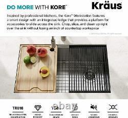 Kraus Kwu110-30 Poste De Travail Kore 30 Pouces Sous-mont 16 Jauge One Bowl Inoxydable