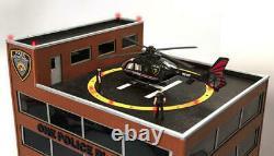 Ménards O Gauged One Police Plaza Building Avec Hélicoptère Animé Préconstruit +