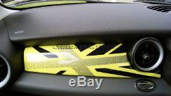 Mini Cooper / S / One R55 R56 R57 R58 R59 Jaune Union Jack Panneau Tableau De Bord Couverture