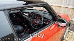 Mini Cooper / S / Un F55 F56 F57 Rouge Intérieur Anneaux Kit Pour Les Modèles XL Withnavigation