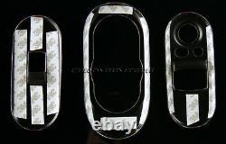 Mini Cooper/s/one F55 5 Porte Hatch Jcw Style Centre+ Housse Du Panneau De Commande Des Fenêtres
