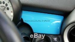 Mk2 Mini Cooper / S / One / Jcw R55 R56 R57 R58 R59 Bleu Tableau De Bord Panneau De Couverture