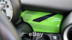 Mk2 Mini Cooper / S / One R55 R56 R57 R58 R59 Union Jack Vert Panneau De Couverture Tableau De Bord