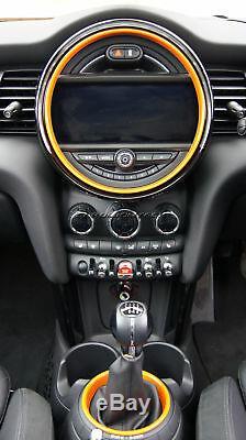 Mk3 Mini Cooper / S / One F55 F56 Orange Anneaux Intérieurs Pour Les Modèles Witho Navigation XL