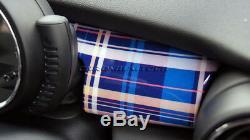 Mk3 Mini Cooper / S / One / Jcw F55 F56 F57 Bleu Tableau De Bord Tartan Panneau De Garniture Couverture