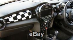 Mk3 Mini Cooper / S / One / Jcw F55 F56 F57 Checkered Flag Panneau Tableau De Bord Couverture