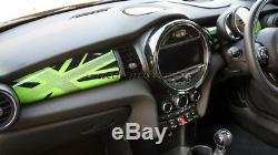 Mk3 Mini Cooper / S / One / Jcw F55 F56 F57 Green Union Jack Dashboard Panneau De Couverture Lhd