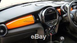 Mk3 Mini Cooper / S / One / Jcw F55 F56 F57 Orange Panneau Tableau De Bord Couverture Pour Le Modèle Lhd