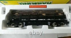 Mth Rail King 70-79003 Hillcrest Lumber Exploitation D'un Wagon Plat Nouveau G / One Gauge