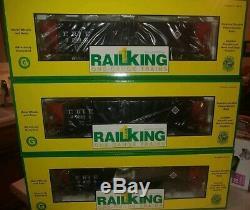 Mth Railking One Gauge Article # 70-70011 Wagons-trémies Erie À 3 Voitures Et 4 Baies