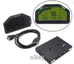 Multi-fonctions LCD Voiture Dash 9000rpm Dashboard Rallye Jauge De Tension Vitesse Compteur Kilométrique