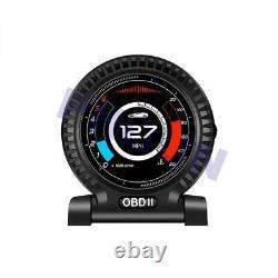Multifonction Obd 2 Voiture Digital Gauge Speed Turbo Oil Water Pressure Temp Meter