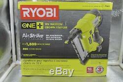 New Ryobi P360 18v One + Sans Fil Airstrike 18 Gauge Sans Fil Agrafeuse De Couronne Étroit