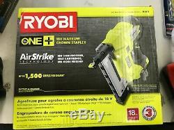 New Ryobi P360 18v One + Sans Fil Airstrike 18 Gauge Sans Fil Étroit Agrafeuse
