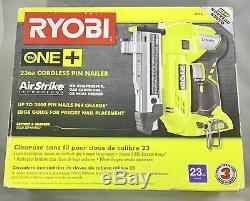 Nib Ryobi 18 V One + Airstrike 23-gauge Sans Fil Pin Cloueur P318 Seul Outil