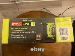 Nib Ryobi Brad Nailer P320 18v 18-volt One+ Airstrike 18-gauge (tool-only)