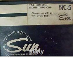 Nos Sun Super Tachometer Nc-5 Coupelle De Montage En Chrome Nib Un Seulement 4 En Option