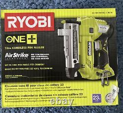 Nouveau Ryobi P318 18-volt One+ Airstrike 23-gauge Cordless Pin Nailer Tool Only
