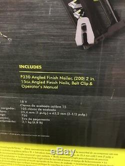 Nouveau Ryobi P330 18-volt One + Sans Fil Airstrike Calibre 15 Angled Cloueuse Outil Seule