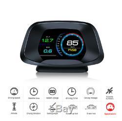 Obd2 + Gps Hud Head Up Display Voiture Compteur De Vitesse Compteur Numérique Détecteur Système D'alarme
