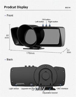Obd2+gps Hud Gauge Car Digital Head Up Display Speedometer Turbo RPM Alarm Temp