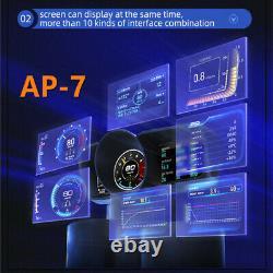Obd2+gps Hud Head Up Car Digital LCD Display Speedometer Turbo RPM Alarm Temp