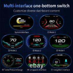 P20 Universal Car Hud Affichage Tête Vers Le Haut Obd De Conduite Speedomètre Hd Speed Projector