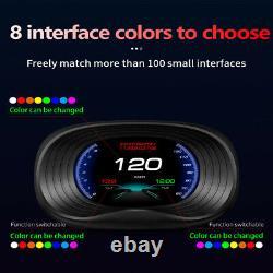 P20 Universal Car Hud Head-up Display Obd Driving Speedometer Hd Speed Projector