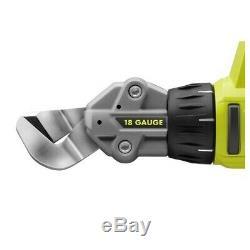 P591 Ryobi One + 18 V 18 Gauge Décalage De Cisaillement / Sans Fil Cisailles + 4,0 Batterie Ah