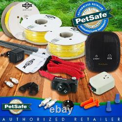 Petsafe 1-3 Chiens Deluxe In-ground Underground Dog Fence 1500 Ft Wire 20-14 Jauge