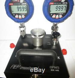 Pompe D'étalonnage De Pression Hydraulique 10 Kpsi + Un Manomètre Numérique Xp2i