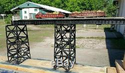 Pont De Plate-forme De Poutre En Forme De Plaque Model1900' & Tréteau, Une (1) Ou Deux (2) Piste, O Gauge