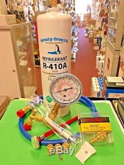R410, Kit De Recharge De Réfrigérant, Un Outil De 28 Oz, Jauge, Flexible, Thermomètre Et Malco