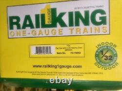 Rail King One-gauge G Scale Caterpillar Race Cars 70-76049 New In Box