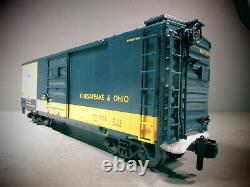 Rail King One -jauge Trains 70-74071 Chesapeake & Ohio 40'box Car G Gauge O.b