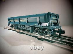 Rail King One -jauge Trains 70-79017 Santa Fe Operating Dump Car O.b. G-gauge