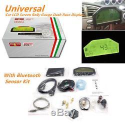 Rallye Écran LCD Tableau De Bord De Voiture Gauge Dash Race Display Bluetooth À Capteur Kit