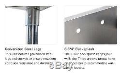 Regency 24 Inoxydable Un Acier Calibre 16 Compartiment Utilitaire Commercial Évier 2