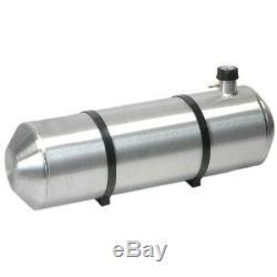Réservoir D'essence En Aluminium Repoussé De 10 Pouces X 36, 12 Gallons Avec Jauge À Chapeau, Tout En Un
