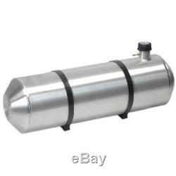 Réservoir D'essence En Aluminium Repoussé De 10 Pouces X 40 13,5 Gallons Avec Jauge À Chapeau