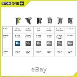 Ryobi 18 V One + Lithium-ion Sans Fil Airstrike 16 Gauge Cordless Cloueuse De Finition