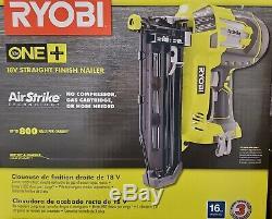 Ryobi 18 V One + Lithium-ion Sans Fil Airstrike 16-gauge Sans Fil Droit